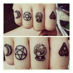 (253) Tattoo's For > Witchcraft Tattoo | Tactful Tattoos |... ❤ liked on Polyvore featuring accessories and body art