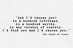 I'd choose you.