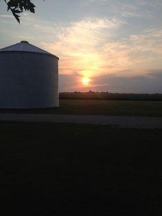 Sunrise over Southern Illinois farm