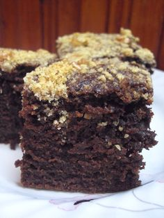 Cristina's world: Negresa cu gem si nuci (de post) Dessert Recipes, Desserts, Marshmallow, Biscuits, Sweet, Veganism, Food, Cakes, Tailgate Desserts