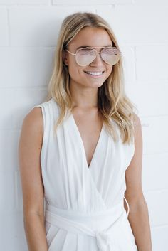 cruise sunglasses- rose gold – Esther Boutique