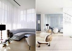 Interiors - Exclusive Apartment in NY, by Yabu Pushelberg | Living Room Ideas, Interior Design, Home Design, House Design