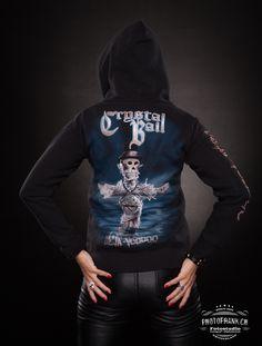 "Zipped Hoodie ""Déjà-Voodoo"" Ladyfit #crystalball #crystalballrocks #merch #merchandise #bandmerch #tshirt #tshirts #bandshirt #black #metal #hardrock #heavymetal #model #dejavoodoo #limited #edition #tattoo #balls #logo #photofrank #girlyshirt #girlieshirt #blonde Band Merch, Band Shirts, T Shirts, Black Metal, Heavy Metal, Merchandise Shop, Crystal Ball, Voodoo, Hoodies"