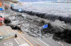 De tsunami in Fukishima in Japan, 2011 (Eva)