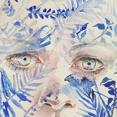 detail Watercolor Portraits, Watercolor Art, Agnes Cecile, Gcse Art, Art Inspo, Artsy, Sketches, Photo And Video, Drawings