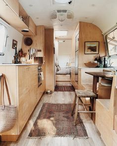 Airstream Remodel, Camper Renovation, Airstream Living, Motorhome Interior, Campervan Interior, Bus Living, Tiny Living, Bus House, Tiny House