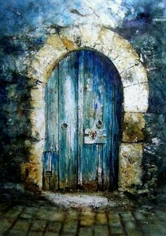 Beautiful blue door.