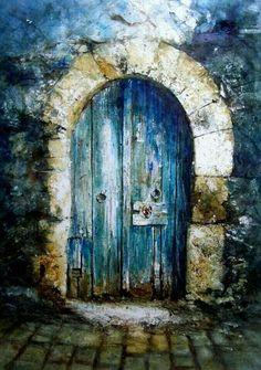 Beautiful blue door.
