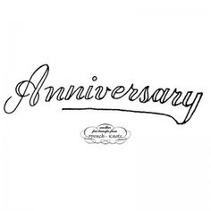 anniversary embroidery transfer pattern