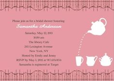 bridal shower invitations bridal shower invitation wording bridal tea invitations elegant wedding invitations