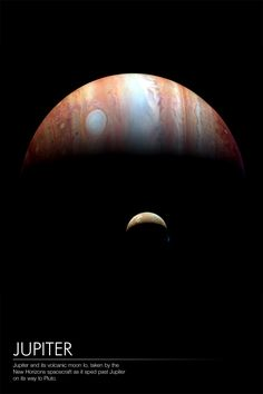 Jupiter and Io, taken by New Horizon spacecraft, en route for Pluto