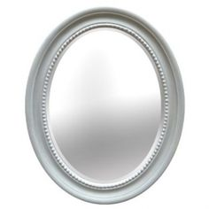 The Cameo mirror in pale duck egg blue hand painted with a lightly distressed finish.