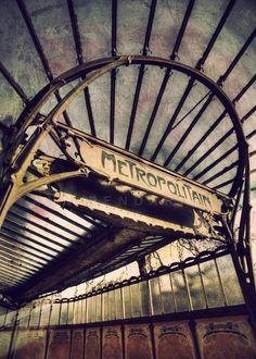 Paris, old metro sign