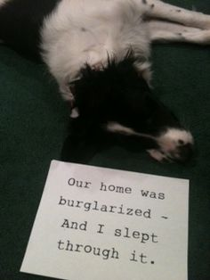 Our Home Was Burglarized And I Slept Through It