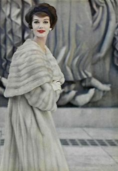 1959, I would be in a state of bliss with this coat! especially if  it was pink! or solid white