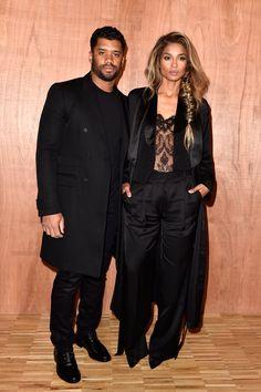 Pin for Later: Ces Célébrités Ont Gardé Leurs Meilleurs Looks Pour la Fashion Week de Paris Russell Wilson et Ciara Au défilé Givenchy.