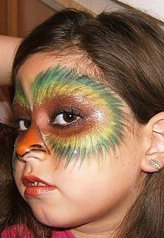 owl face painting.. i love the feathering!