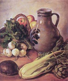 Imagen de http://uploads8.wikiart.org/images/zinaida-serebriakova/still-life-with-a-jug-1952.jpg.