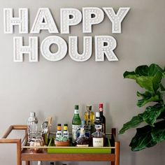 This happy hour sign is nothing short of amazing. You can make your own with this tutorial!