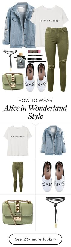 """""""Fall for me"""" by evidentlysarah on Polyvore featuring MANGO, Karl Lagerfeld, Current/Elliott, Givenchy, Lord & Berry, Torrid, Burt's Bees, Valentino and Fall"""