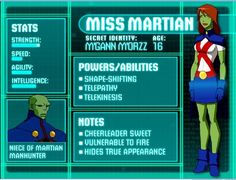 Young Justice: Illustrated Character Bios