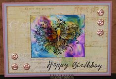 Hand Sanitizer & Alcohol Ink on glossy card stock
