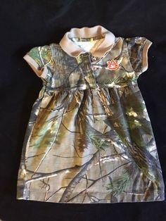 Auburn University AU Girl's Infant Size 12 month Camoflauge Dress Short Sleeve #CreativeKnitwear