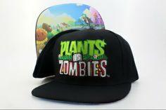 Plants vs Zombies Big Face snapback hats