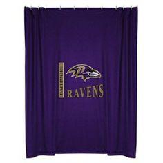Baltimore Ravens Kids Fabric Shower Curtain
