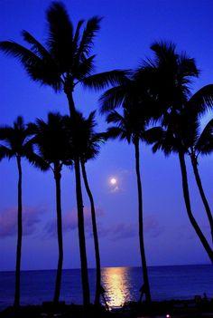 ˚Full Moon on Wailea Beach - Maui, Hawaii
