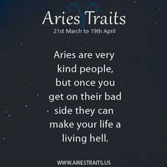 Aries are very kind..