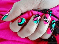 Ida-Marian kynnet / Colorful May Day nails / #Nails #Nailart