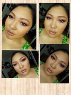 Fall makeup. Eyeshadow, lips, blush on used PAC. Foundation and powder used NYX Cosmetics