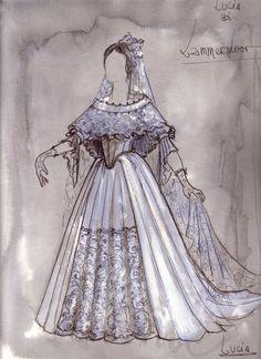 LUCIA DI LAMMERMOOR / Robe de mariée de Lucia