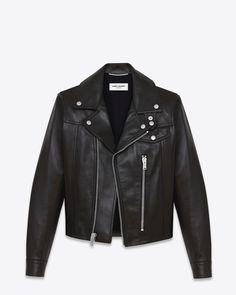 Saint Laurent Straight Motorcycle Jacket In Black Leather $4,290