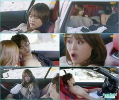 yoo mi when wake up and found herself in the car she become shock and ran leaving Jin Wook behind - My Secret Romance: Episode 2