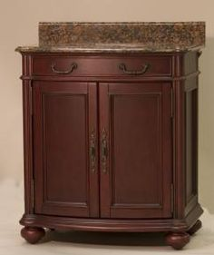 30 Inch Single Sink Furniture Style Bathroom Vanity with Choice of Finish and Counter Top