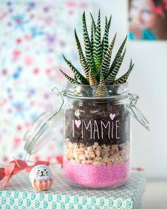Le 4 mars c'est la fête des grands-mères. Et si tu lui offrais un petit cadeau fait avec amour ? Par exemple ce terrarium, si joli et tellement facile à faire. Succès garanti !!!