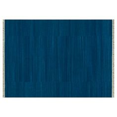 Check out this item at One Kings Lane! Anzio Flat-Weave Rug, Denim