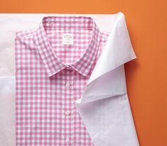 Tissue paper as wrinkle preventer