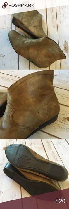 {Libby Edelman} Faux Leather Booties Super cute faux leather Booties.  They are in nearly new condition minus a small black spot on the left boot.    They fit true to size. Libby Edelman Shoes Ankle Boots & Booties