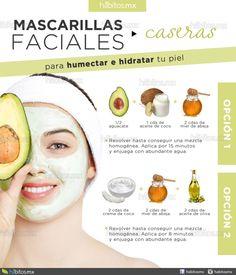 Mascarillas faciales caseras / Humecta e hidrata