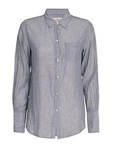 Nili Lotan Indigo Pinstripe Shirt