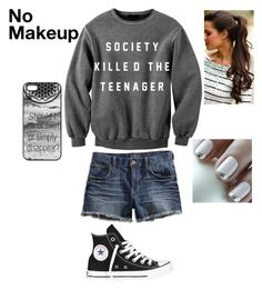 """I Think Something Is Wrong"" by loney5400 ❤ liked on Polyvore featuring Lucky Brand and Converse"