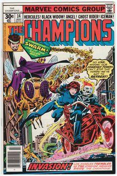 The Champions #14 NM+, John Byrne artwork, back cover ad with Jack Davis art, Gil Kane cover art. $27.50
