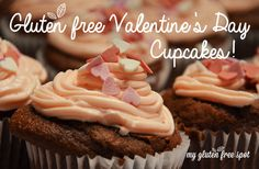 Cacao cream cheese cupcakes! Surprise your loved ones with this super easy, delicious & not to mention cute recipe.  #glutenfree #valentine's day