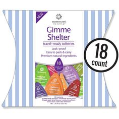 'Gimme Shelter' Natural Travel Size Toiletry Kit - Buy 2, We Donate 1 to Women and Family Shelters. Made in USA (KGS) * You can find more details here : Travel Skincare