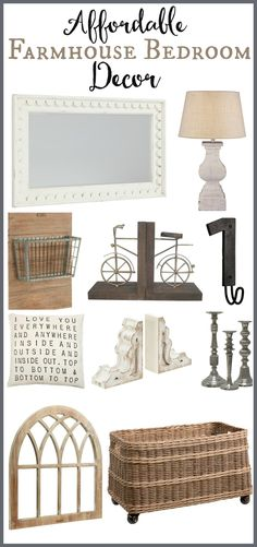 Farmhouse Bedroom Decor. Bedroom accessories for every budget. Get the Fixer Upper look with these rustic bedroom decor accessories