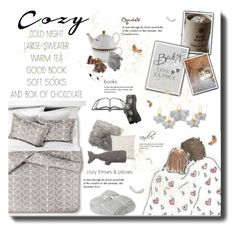 """Cozy cold nights"" by dittestegemejer ❤ liked on Polyvore featuring interior, interiors, interior design, home, home decor, interior decorating, Orla Kiely, Barefoot Dreams, Thro and M&Co"