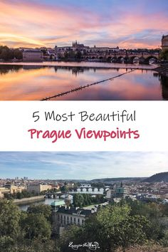 Check the Prague s most intriguing views from above. Budget friendly, free, cheap places that are to die for. Travel more for less money. Cheap Travel, Budget Travel, Prague, Most Beautiful, About Me Blog, Europe, River, City, Beach